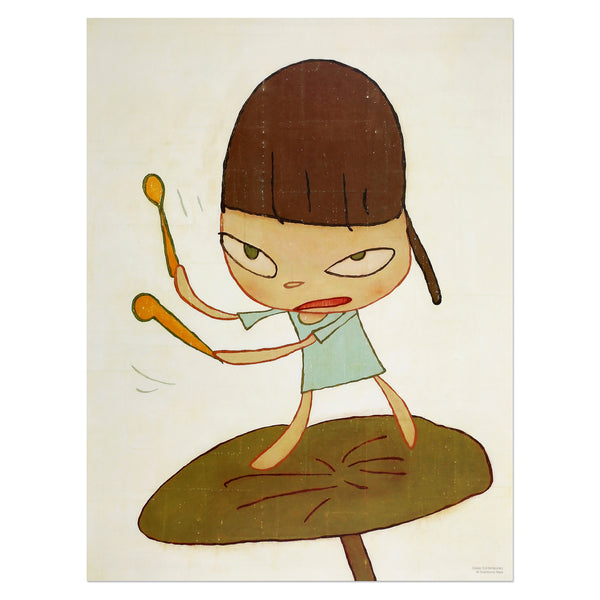 Yoshitomo Nara - Marching On a Butterbur Leaf | PRINTS AND PIECES