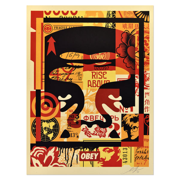 Shepard Fairey - Obey 3 Face Collage 3 | PRINTS AND PIECES