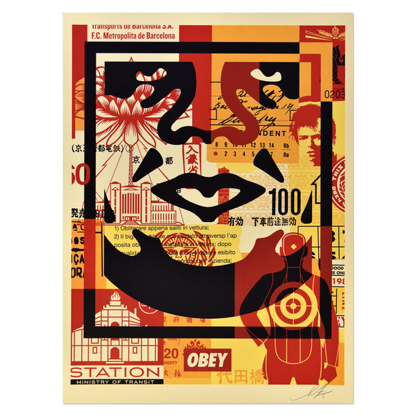 Sheaprd Fairey - Obey 3 Face Collage 1 | PRINTS AND PIECES