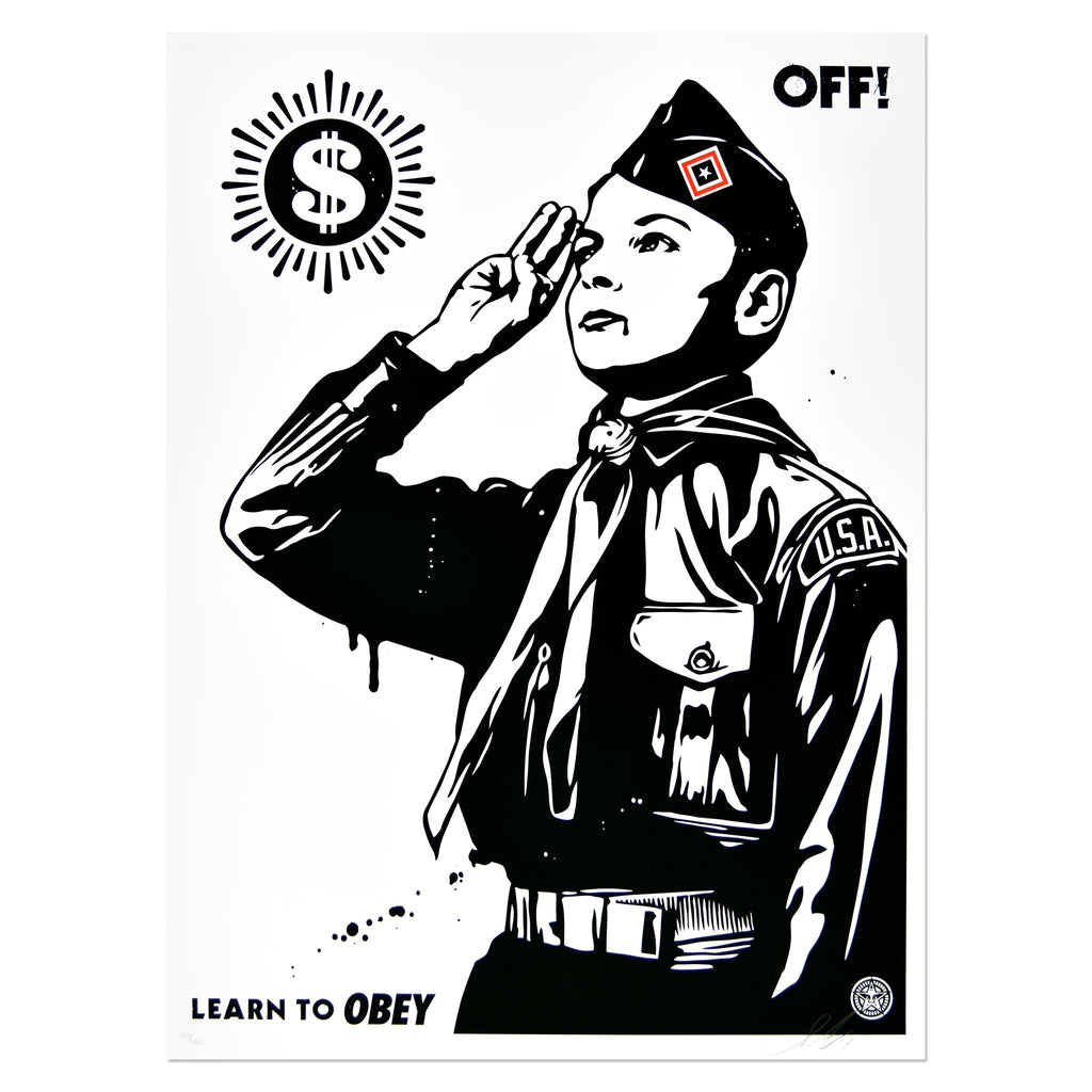 Shepard Fairey - Learn To Obey | PRINTS AND PIECES