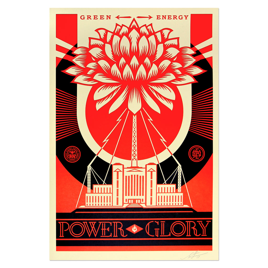 Shepard Fairey - Green Power | PRINTS AND PIECES