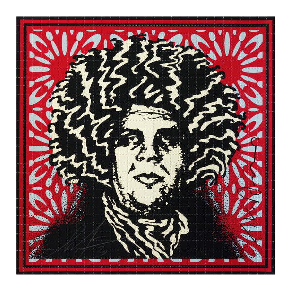Shepard Fairey - Psychedelic Andre - Classic Red Obey Giant Variant