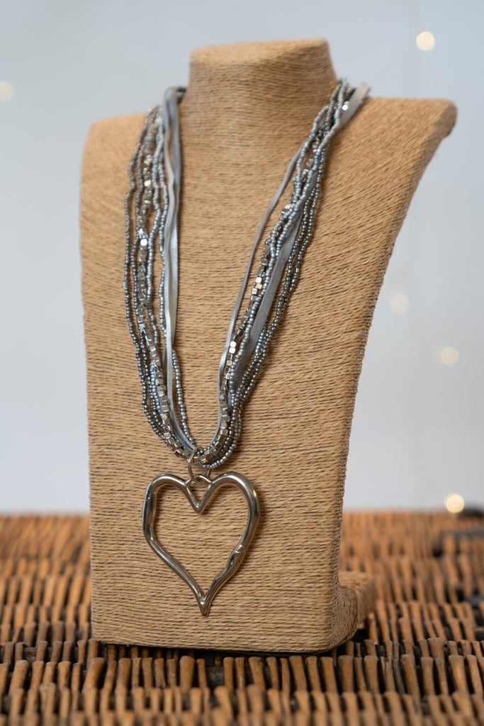 Abstract Heart Necklace - The Wardrobe