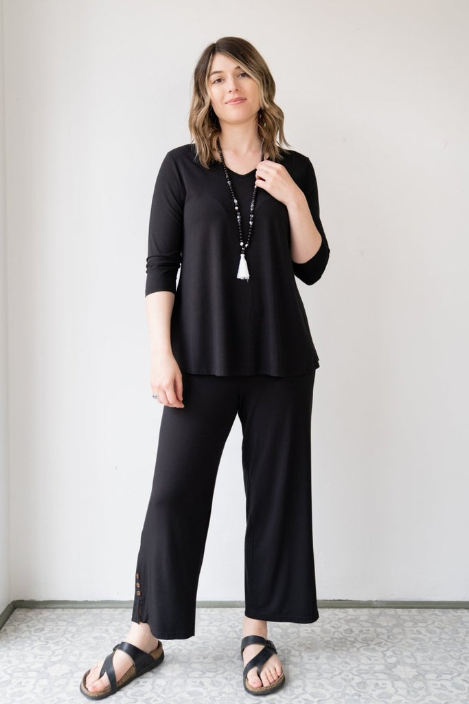 Bamboo Crop Pant - The Wardrobe