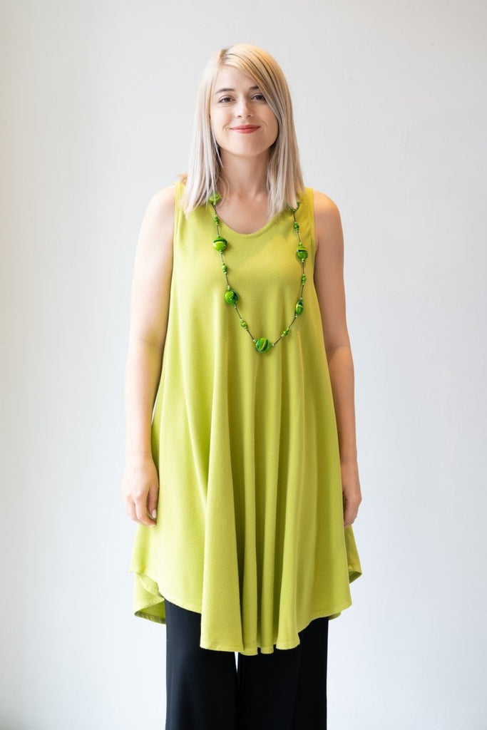 Bias Cut Dress - Lime - The Wardrobe