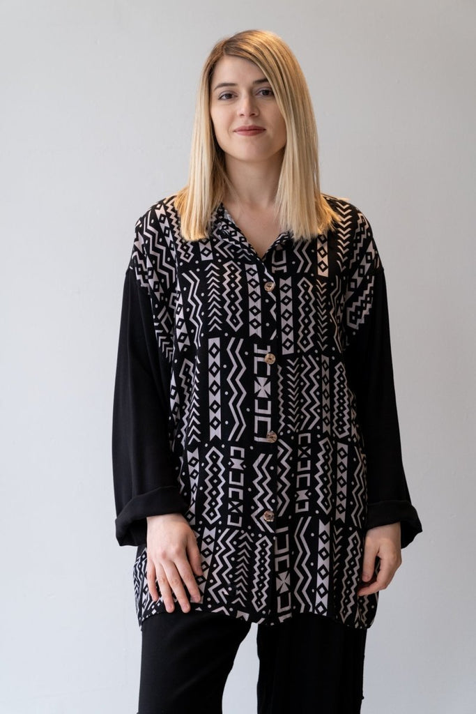Big Shirt - Aztec Print - The Wardrobe