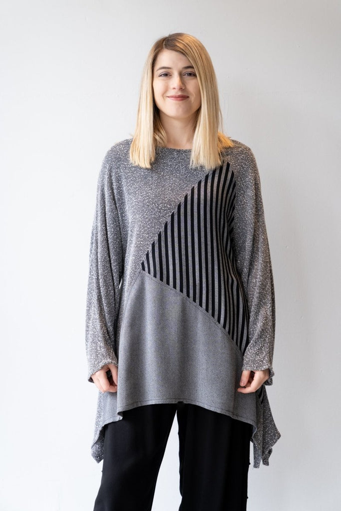 Bouclé Stripe Tunic - The Wardrobe