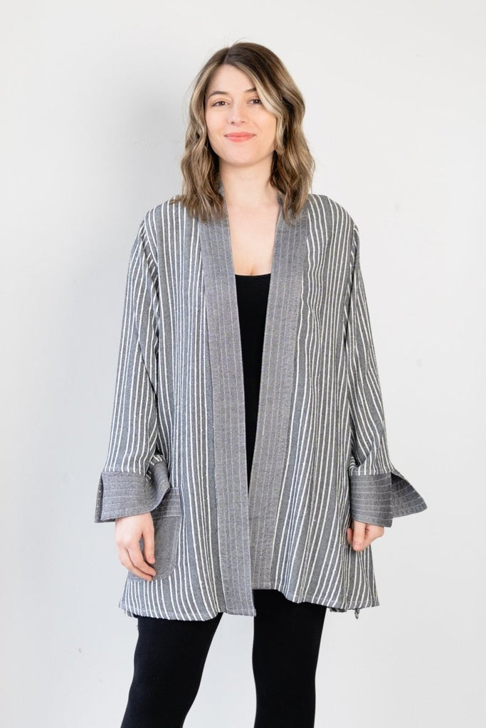 Cardigan - Shadow Stripe - The Wardrobe