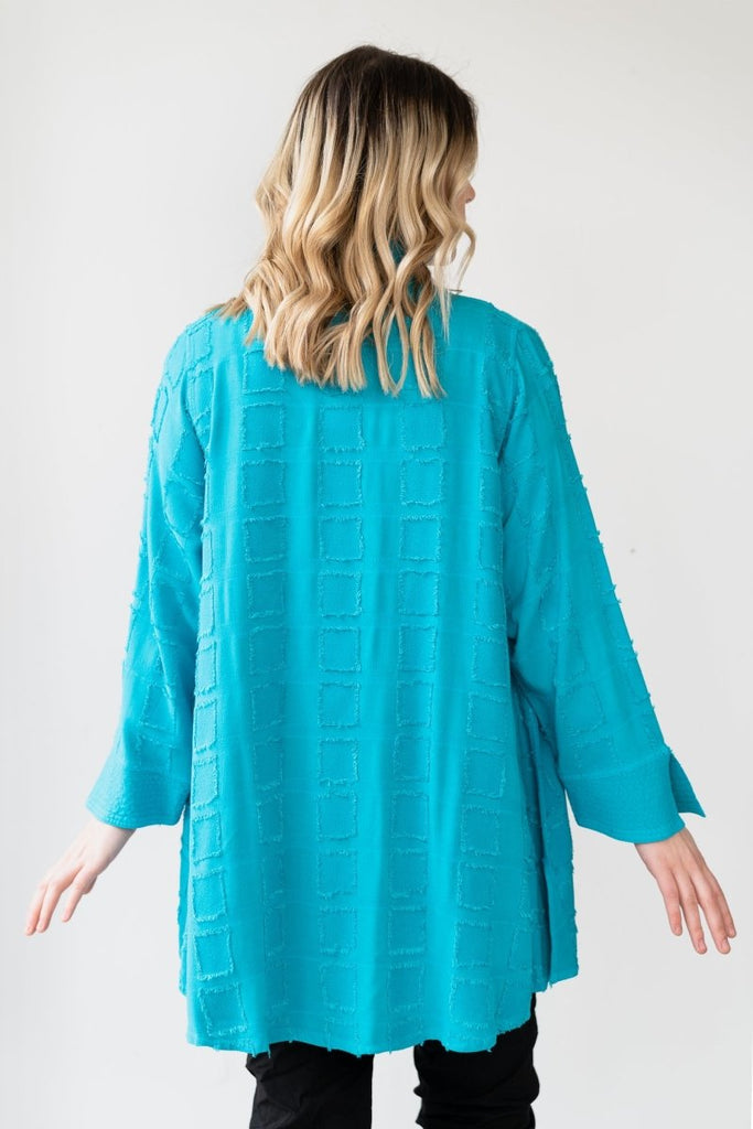 Cardigan - Turquoise Square - The Wardrobe