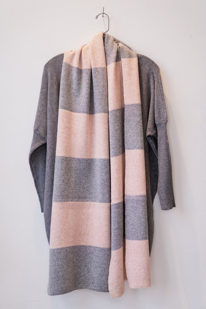 Cashmere Blend Scarf w/ Block - The Wardrobe