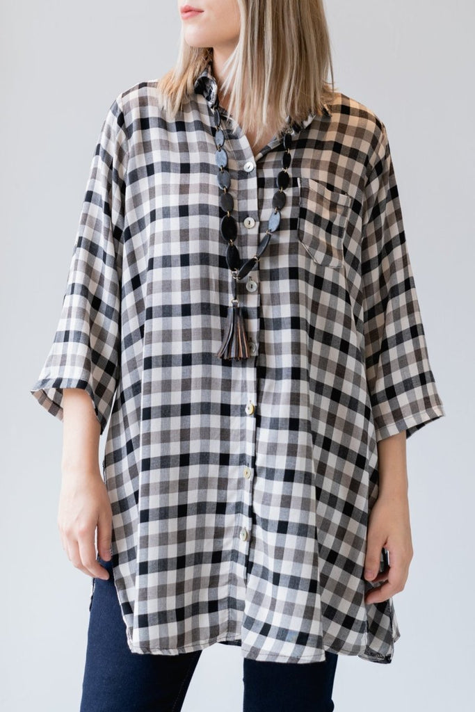 Check Tunic Shirt - The Wardrobe
