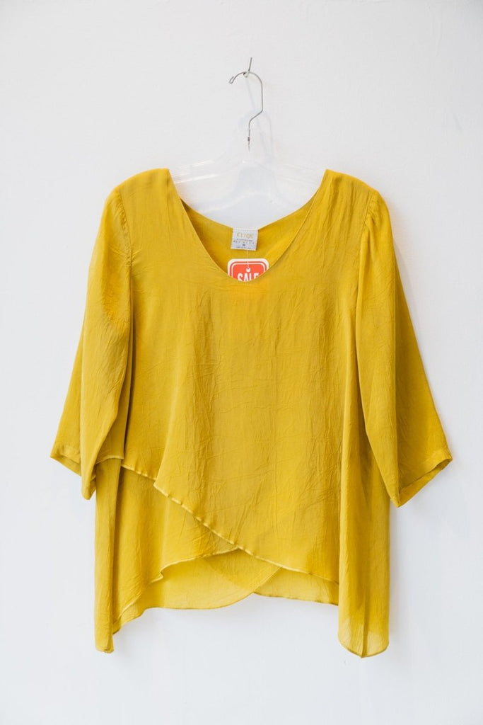 Click Top - Mustard - SIZE M - The Wardrobe