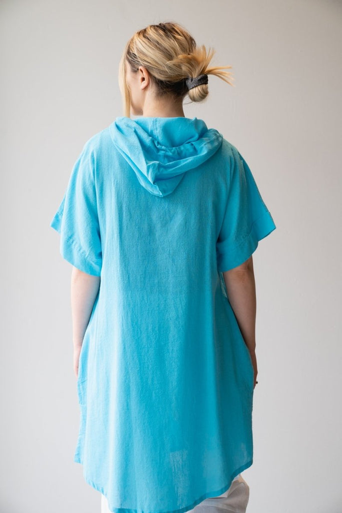 Cotton Hoodie Tunic - The Wardrobe