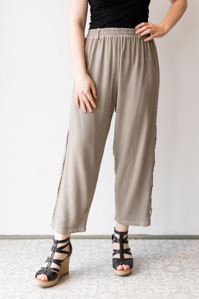 Crop Pant - British Taupe - The Wardrobe