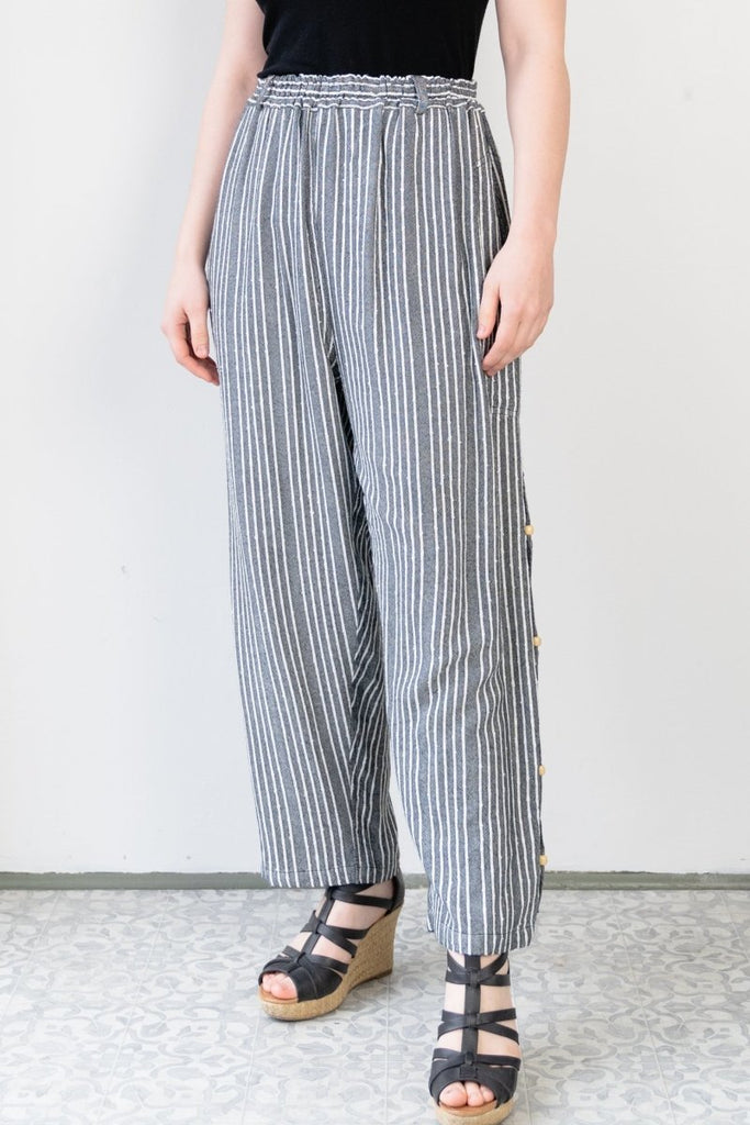 Crop Pant - Shadow Stripe - The Wardrobe