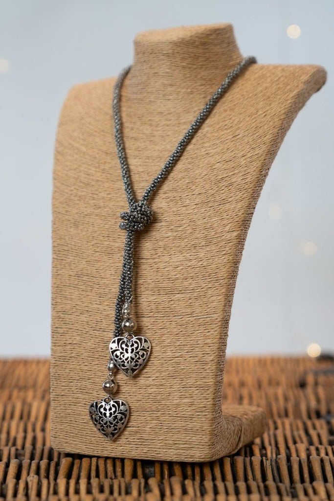 Double Heart Necklace - The Wardrobe