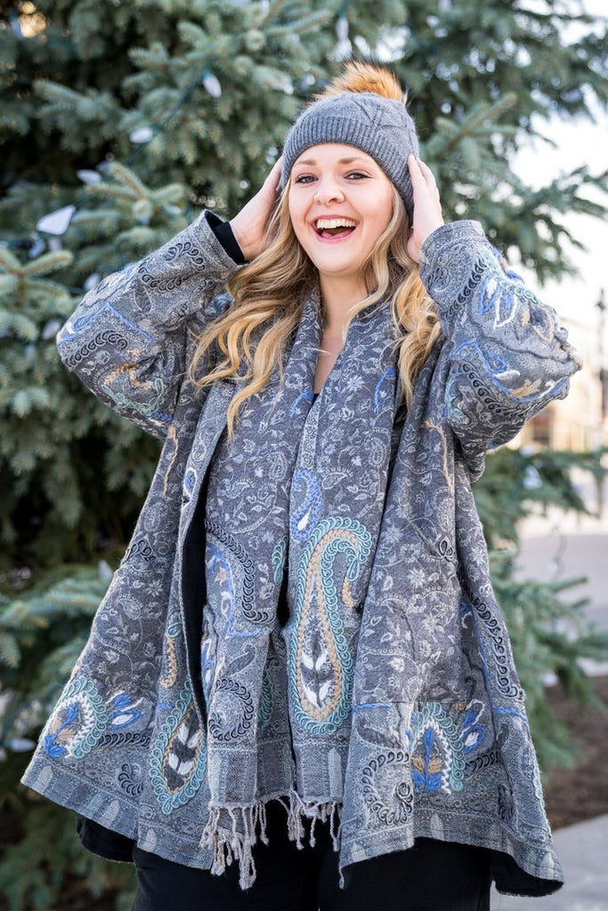 Fleece Lined Embroidered Jacket - The Wardrobe