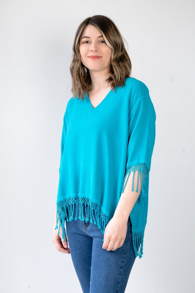Fringe Top - Turquoise - The Wardrobe