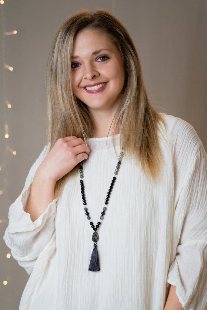 Lava Stone Tassel Necklace - The Wardrobe