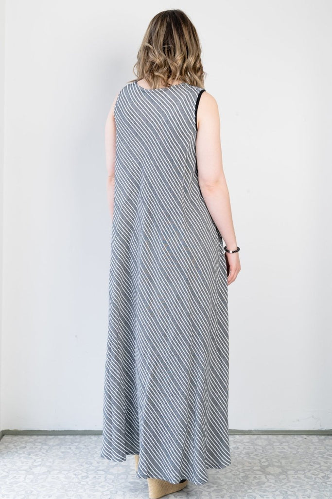 Long Dress - Shadow Stripe - The Wardrobe