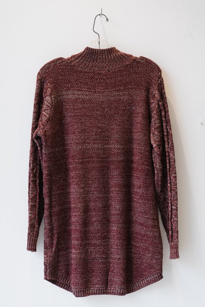 Mock-Neck Textured Sweater - The Wardrobe