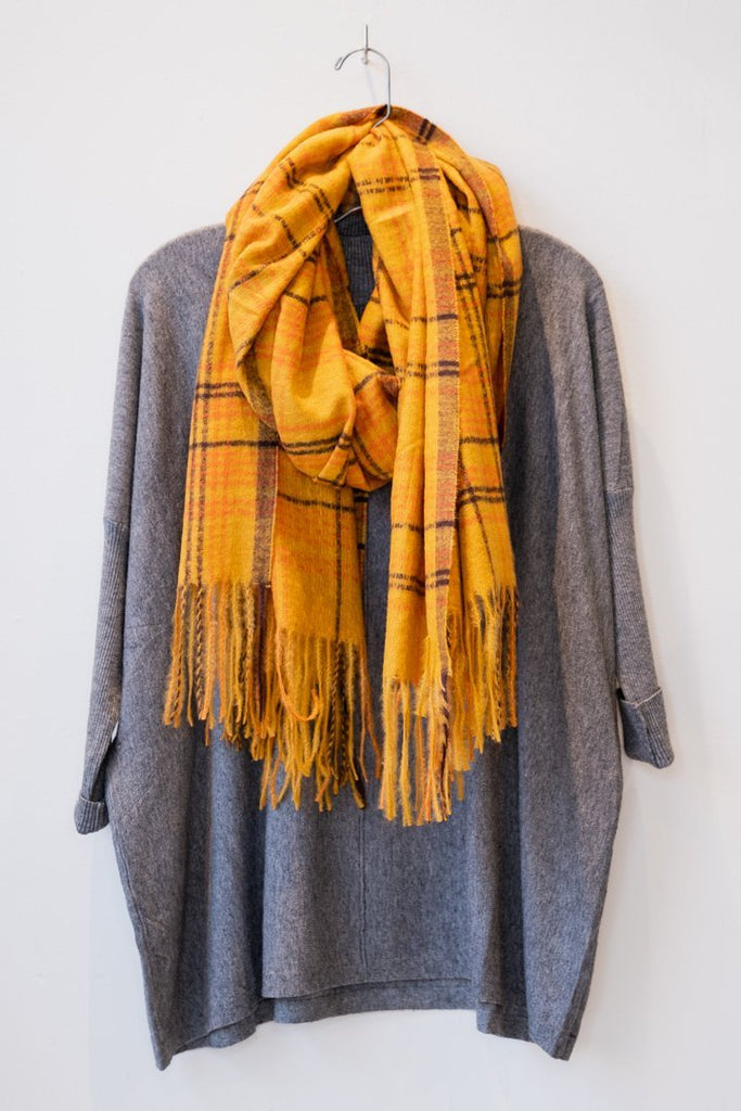 Mustard Plaid Scarf - The Wardrobe