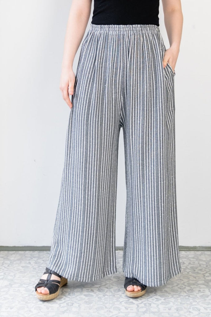 Palazzo Pant - Shadow Stripe - The Wardrobe