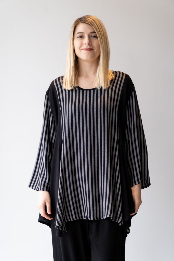 Panel Tunic - Black/Grey - The Wardrobe