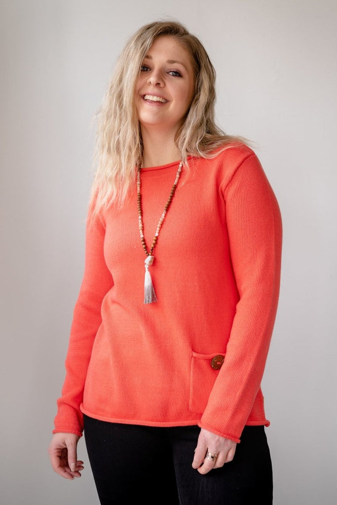 Perfect Pullover - Coral - The Wardrobe