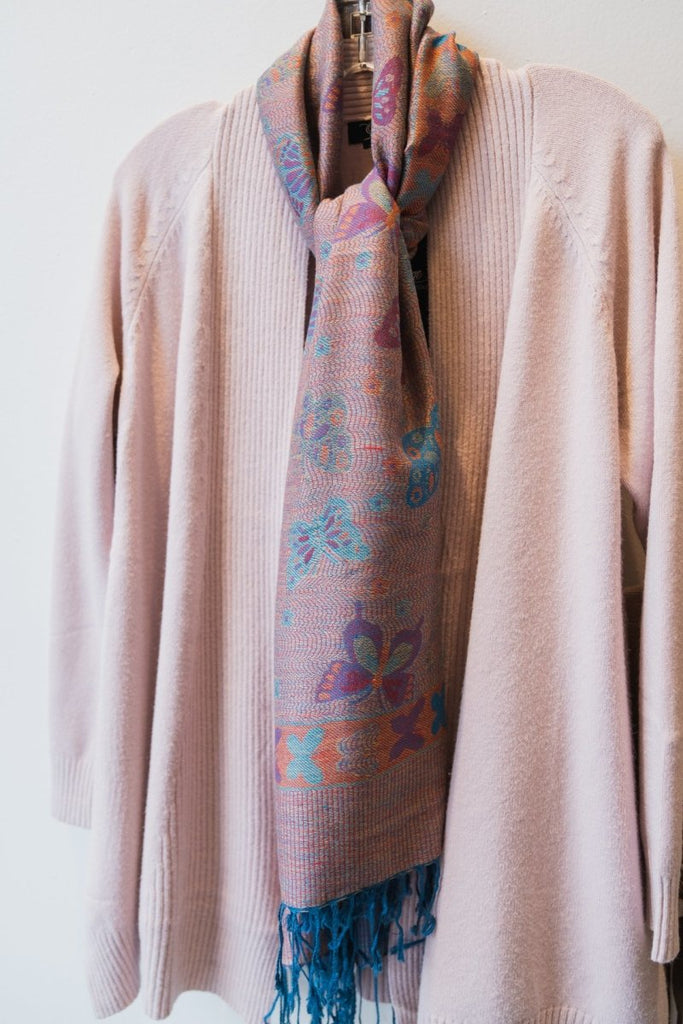 Pink Printed Scarf - The Wardrobe