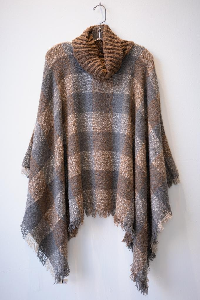 Plaid Poncho - The Wardrobe