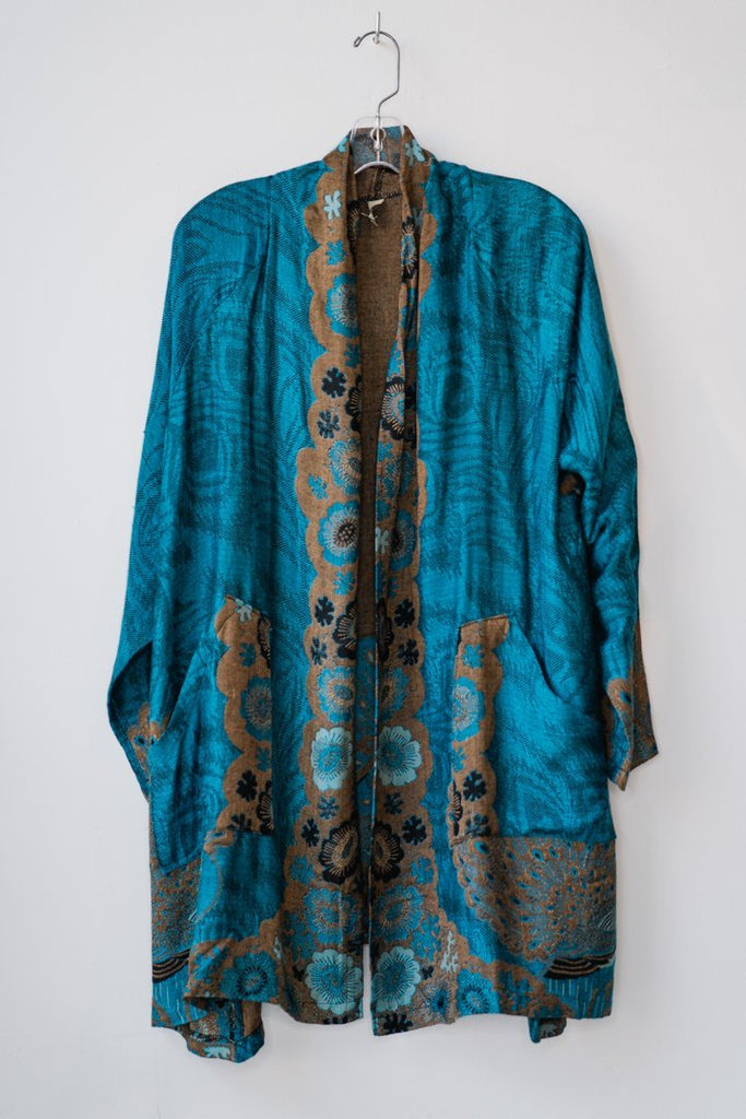 Printed Jacket - Teal Peacock - The Wardrobe