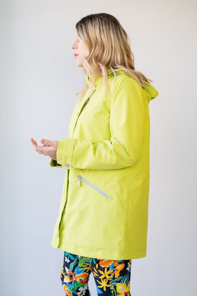 Rain Coat - Lime Magic Print - The Wardrobe