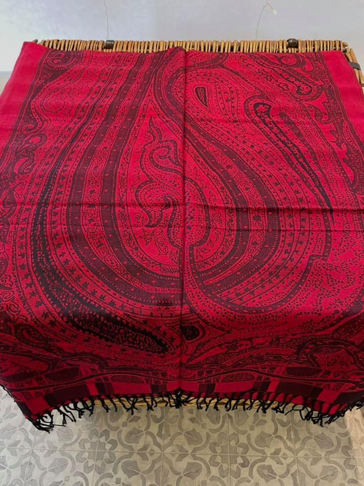 Red Print Scarf - The Wardrobe