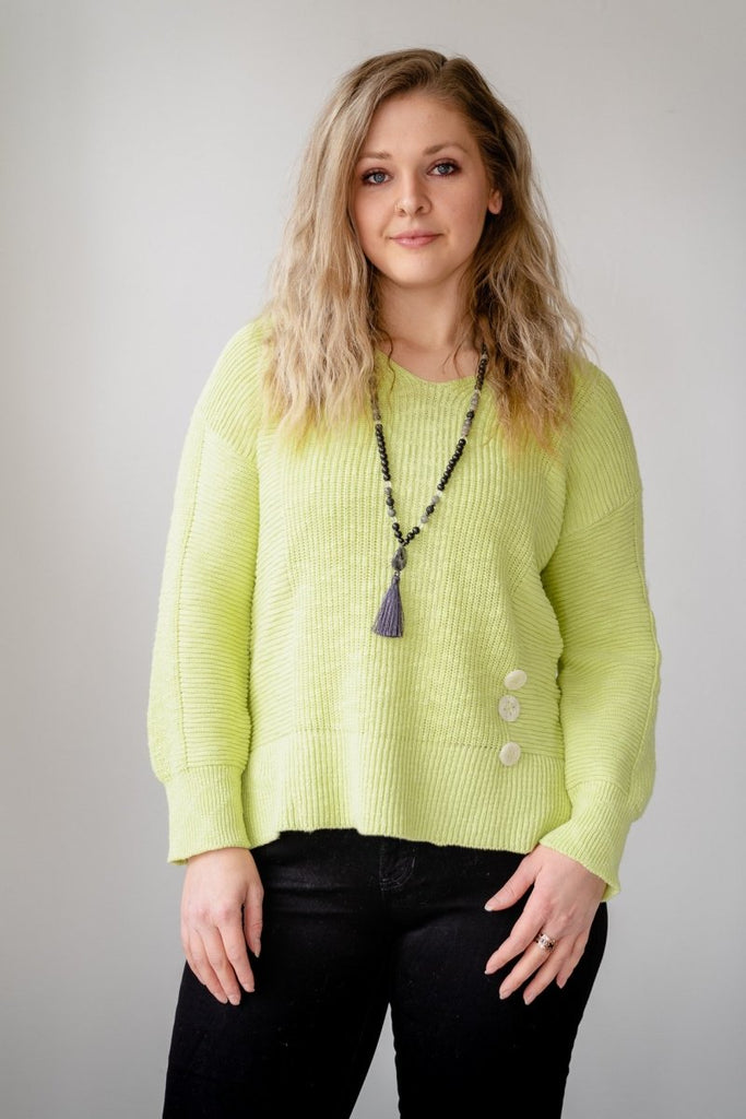 Refresh Pullover - Lime - The Wardrobe