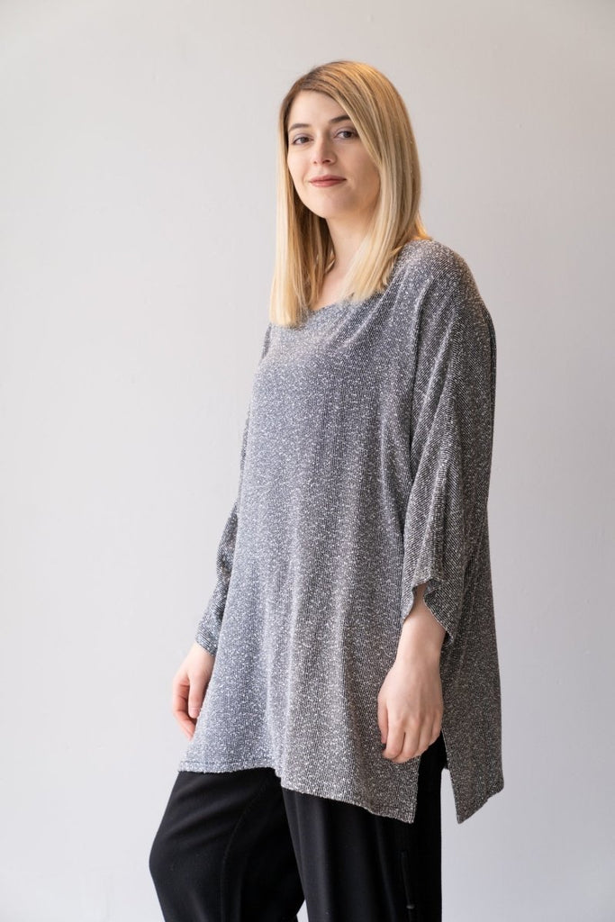 Round Neck Bouclé Tunic - The Wardrobe