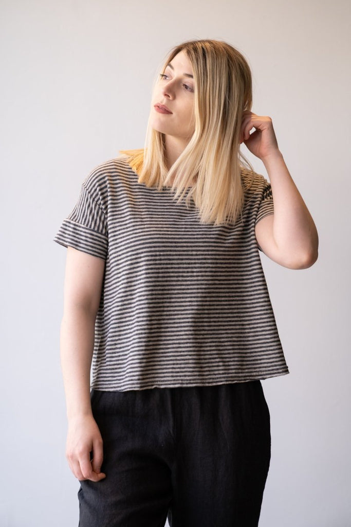 Stripe Crop Tee - The Wardrobe