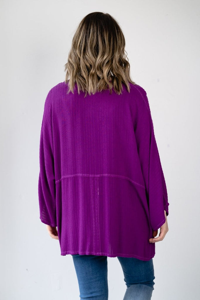 V-Neck Top - Purple - The Wardrobe