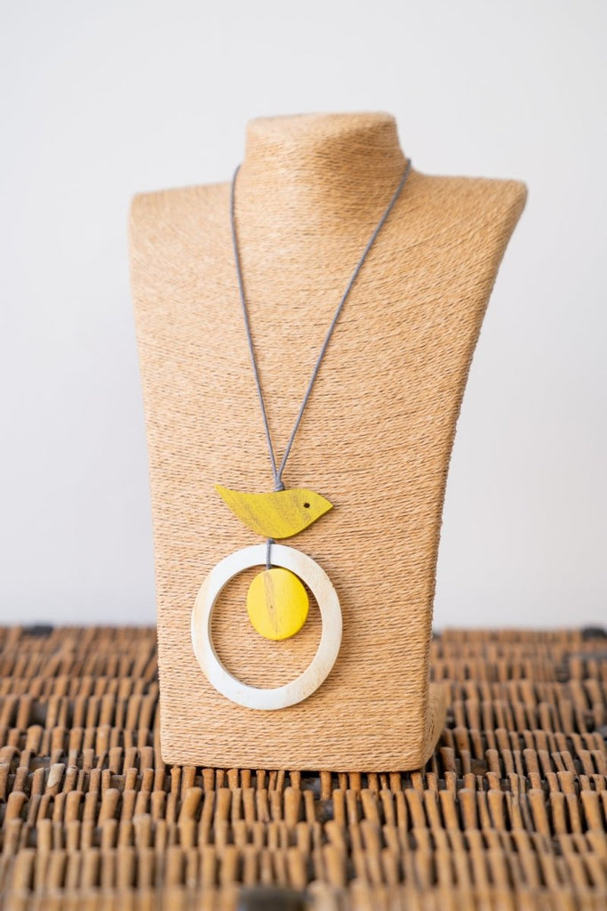 Wooden Bird Necklace - The Wardrobe