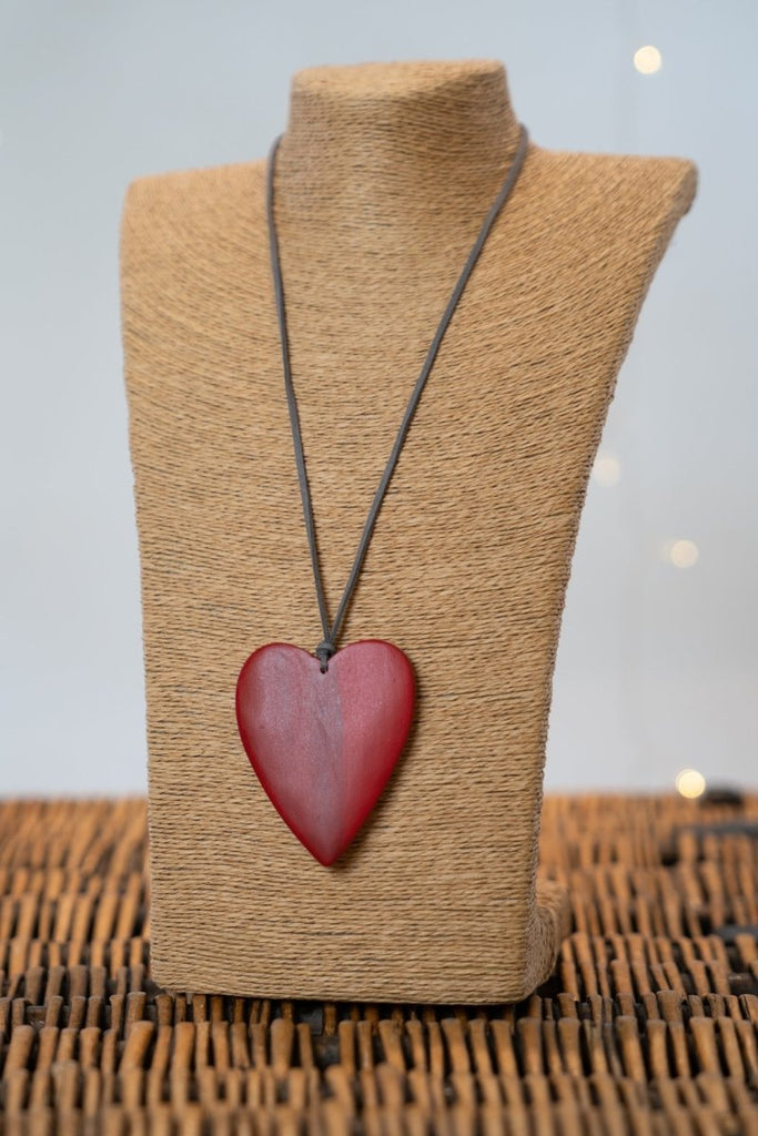 Wooden Heart Necklace - The Wardrobe