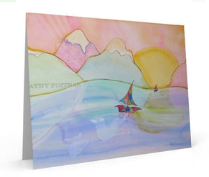 Peaceful Journey , art card of painting.