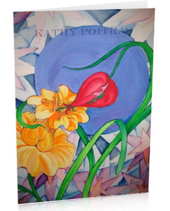 Sensual Flowers,  art card of painting.