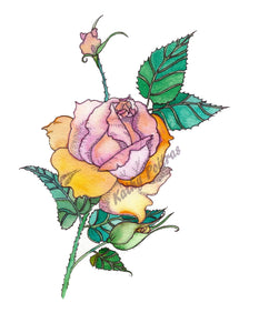 GIANT: color your own greeting card of a rose.