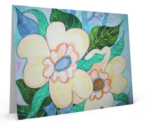 Yellow Blossoms, art card of water color painting.