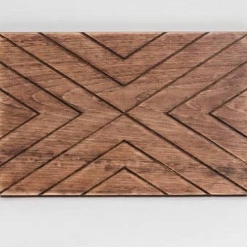 Chevron Wood Charcuterie Board