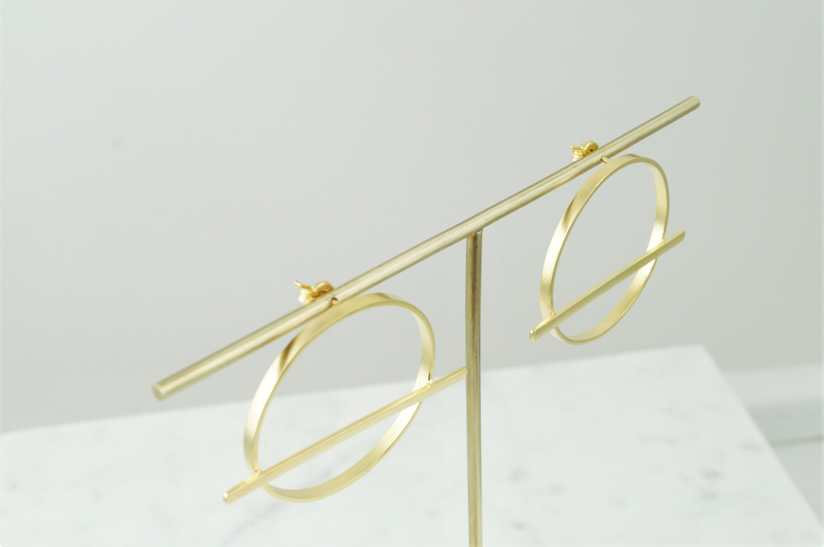 Thita Gold Large Hoops