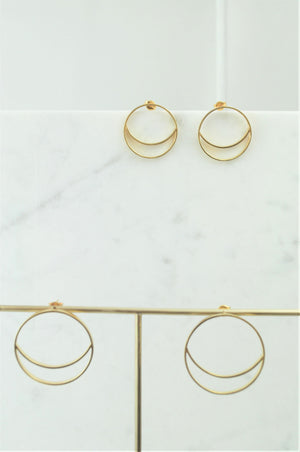 Luna Gold Small Hoops
