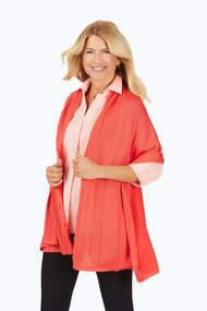 Sutton Textured Stripe Button Wrap