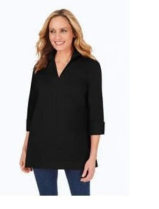 Lydia Stretch Non-Iron Zip-Up Tunic