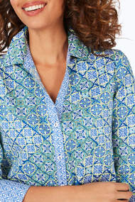 Palmer Wrinkle-Free Seaglass Medallion Tunic